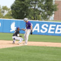 Photo of #2 D'eric Shenault- Shortstop making a play at second base during a scrimmage game with Ellsworth Community College on Sept.11.