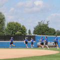 Kirkwood Softball Team takes time to work outside on Aug. 28.