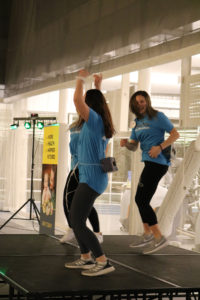 KDM leadership team members compete against each other in a Minute to Win It game on Feb. 21.