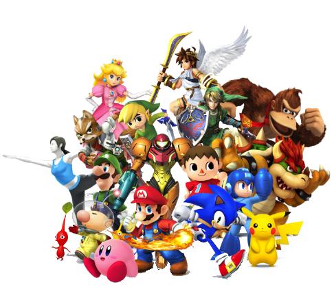 Super Smash characters