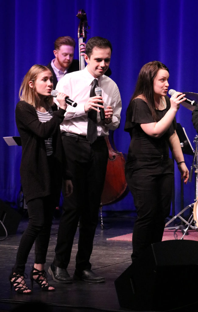 Jazz Transit performs in Ballantyne Auditorium during the Vocal Jazz Festival on Feb 28.