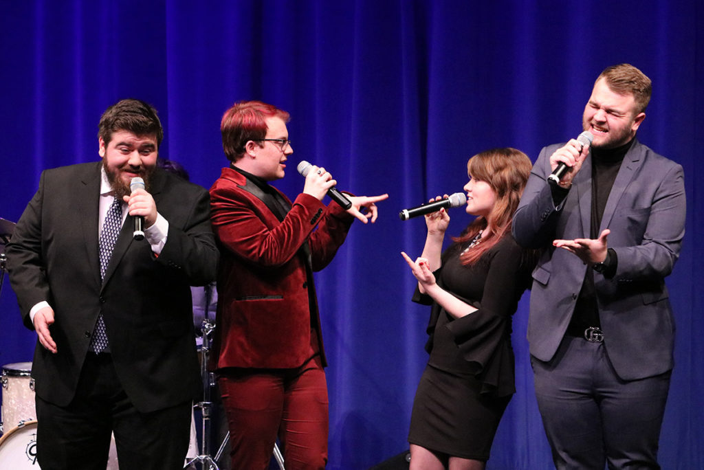 azz Transit members at Kirkwood Community College perform at the Vocal Jazz Festival on Feb. 28. Also performing that day were professional vocalists Kate Reid, Marion Powers and Justin Binek.