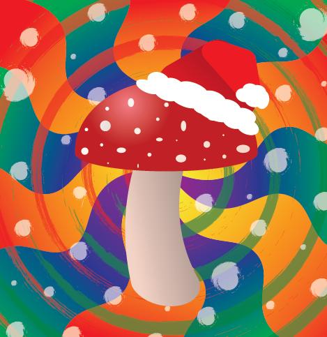 Christmas Mushroom
