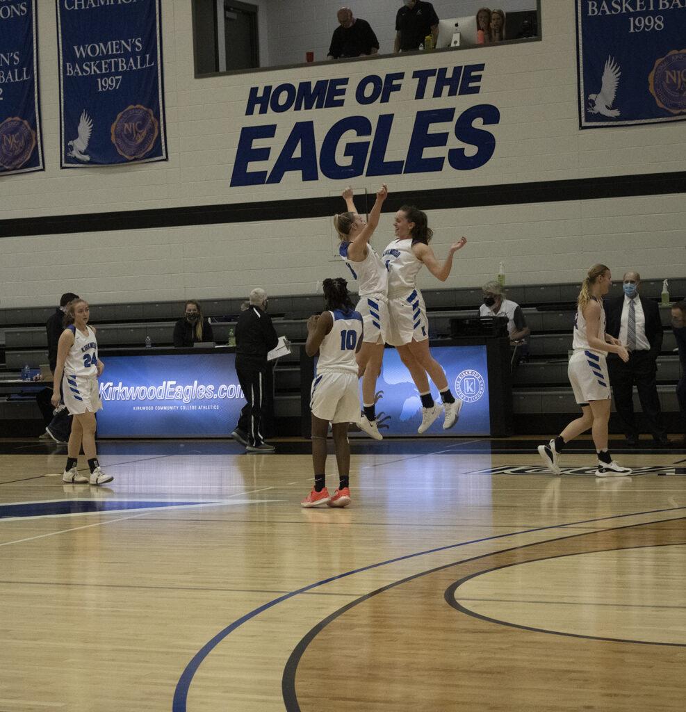 Women's basketball team celebrates