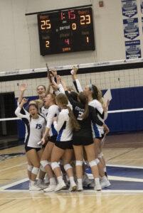 Volleyball team celebrates